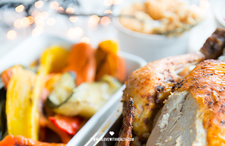 Christmas dinner with chicken